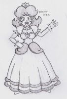 Princess Daisy Sketch 4 by SuperGon-64
