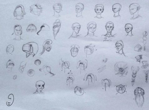 6 Sep heads doodles by mary3m