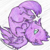 Winged Wolf Cub: Purple by Ebony-Rose13