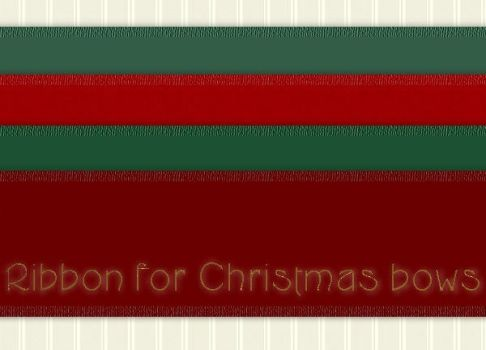 Christmas Bows Ribbons by PhotoImpactPixels