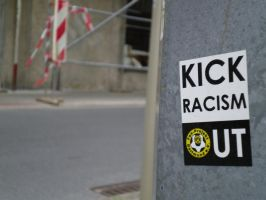 kick racism out by Dr-J-Zoidberg