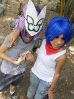 Gorillaz Cosplay- Noodle and 2D by haozeke93