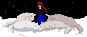 Winter With The Wolves by heatherhigurasshi