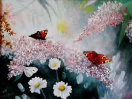 Butterflies oil painting by oxanaart