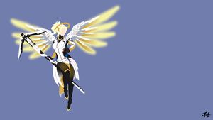 Mercy (Overwatch) Minimalist Wallpaper by slezzy7