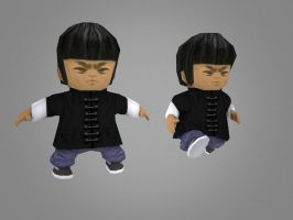 Bruce Lee Low poly by Jonnathon