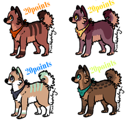 Dog Adoptables 1. by MichelsAdoptions
