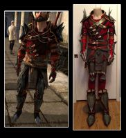 Dragon Age 2 Hawke Champion Rogue Armor Cosplay by senorwong