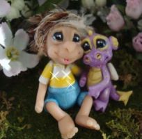 polymer clay munchkin cory by crazylittlecritters