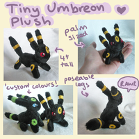Tiny Umbreon plush by scilk