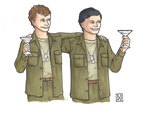 Hawkeye and Trapper- Colour by SpecialWeaponsDalek