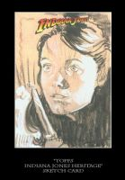 Sketch Card-Indiana Jones 39 by TrevorGrove