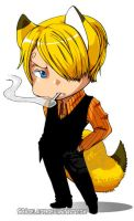Fox-Sanji Chibi by scadelaide