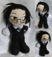 Commission, Mini Plushie, Claude Faustus by ThePlushieLady