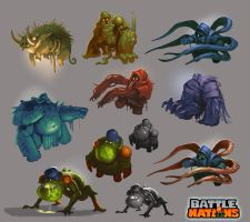 Battle Nations Infected concepts by Nerd-Scribbles