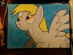 Derpy Hooves Radical Flying Smile A3 by Nammi-namm