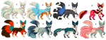 Fox and Kitsune Adopts {Open} by Messenger-Pigeon