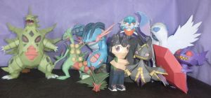 A mega Family papercraft by Everton11