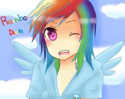 Human Rainbow Dash by BunnieBuns