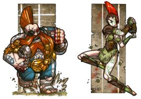 BLOOD BOWL - Troll Slayer vs. Wardancer by NicolasRGiacondino