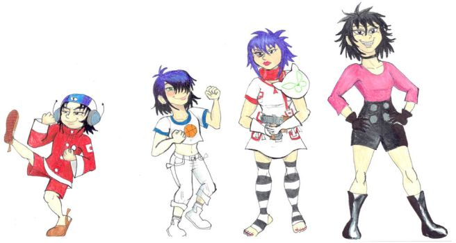 Noodle evolution- redone by Violeta960