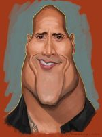 Dwayne Johnson sketch by markdraws