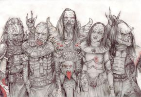 Lordi - all together by NightFlame666