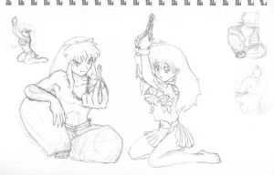 In chains...   Pencil by alesyira