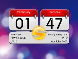 Calendar Style 2 for xwidget by Jimking