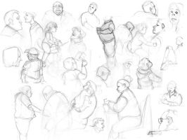 Sketches. lots of sketches. by Prydester