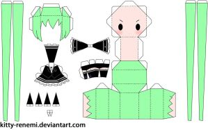 Secret Police project Diva f ver. papercraft by Kitty-Renemi