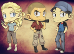Walking Dead set 2 by neoanimegirl