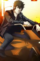 Psycho-pass 2: Kogami - Smoking by Lesya7