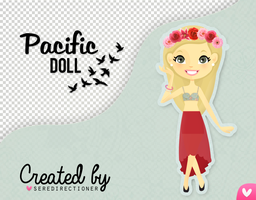 Pacific doll (PSD y PNG) by mylovelyending