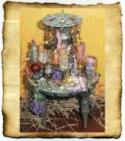 Steampunk Mini Potion Table by grimdeva