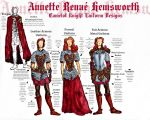 ::Annette Knight Uniform Design Ref Sheet:: by SkippyRulesTheWorld