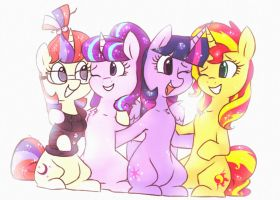 Four little magical eggheads by HiccupsTheNoodle