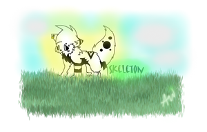 new skeleton with background by XxSkelly-BooxX