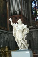 figure in cathedral in Liege by ingeline-art