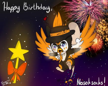 Happy birthday,  Nosoksocks! by ArtistGenepal