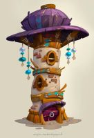 Tower house by Catell-Ruz