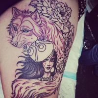 Princess Mononoke Tattoo by AtaliaLight