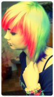 Rainbow hair. by XmaddsterX