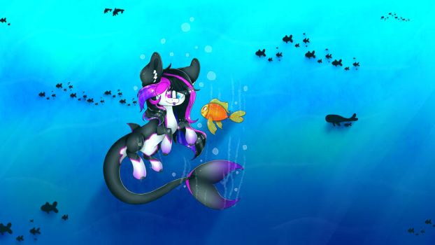 [OC] Morgana in the sea by paintrainbow