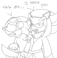 I hate you, Sonic.. by Spark-the-Mutt