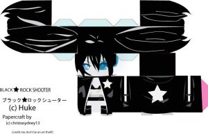 Black Rock Shooter Papercraft by christasyd