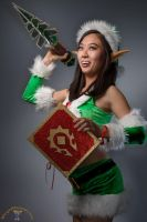 Green Winter Clothes + Miniature Winter Veil Tree by cindyrellacosplay