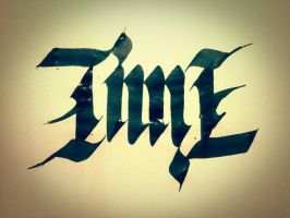 Time ambigram by mariovogfx