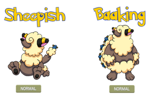Fakemon - Sheepish, Baaking by Trueform