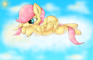 Filly Fluttershy by PlagueDogs123